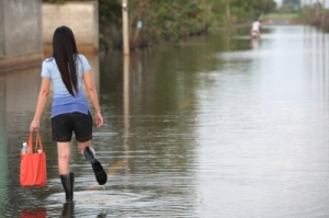 No...this is not me. This girl was smart and wore rubber boots while wading along the road. I chose to wear sandals. I think a rubber boot purchase might occur in the not too distant future. But mine will have polka dots.