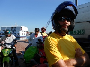 My cute motorbike driver! Still not sure what I owe him...